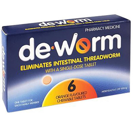 Deworm 100mg 6 Tablets