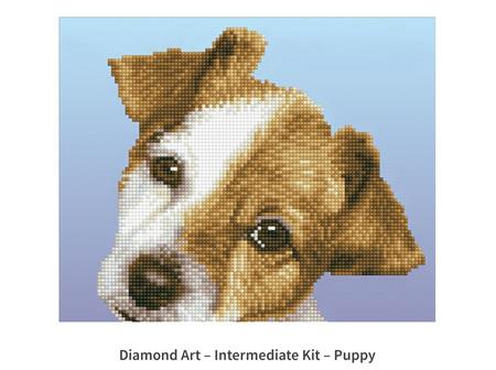 Diamond Art Puppy 30 x 30 cm