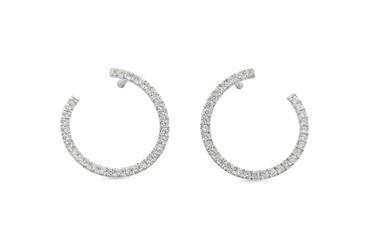 Diamond Circle Earrings