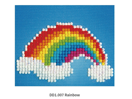 Diamond Dots Rainbow 10.2 x 10.2cm
