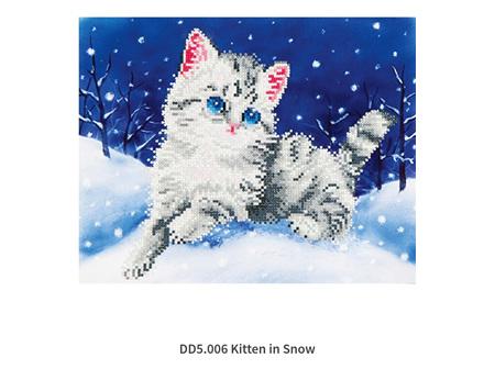 Diamond Dotz Kitten in Snow 35.5 x 27.9cm