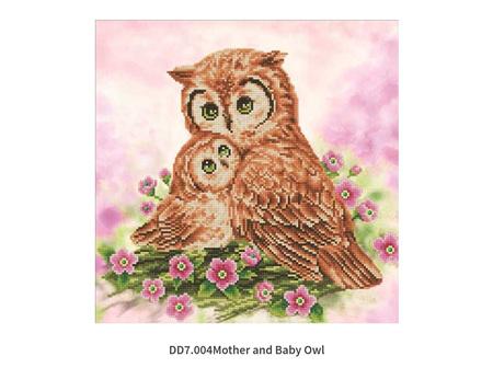 Diamond Dotz Mother & Baby Owl 42 x 42cm