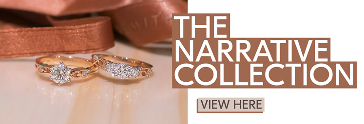 diamond engagement ring, three stone ring, filigree, vintage, rose gold