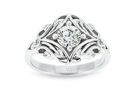 Celtic Pattern Diamond Ring