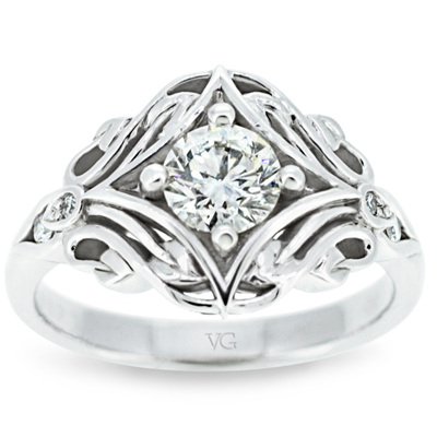Celtic Pattern Diamond Ring