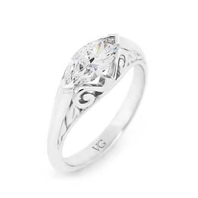 Marquise Heritage Diamond Ring