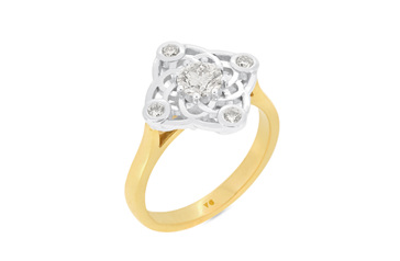 Elements Diamond Cluster Ring