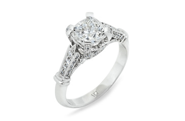 Cushion Cut with Diamond Shoulders