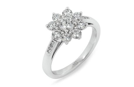 Brilliant Cut Flower Petal Ring