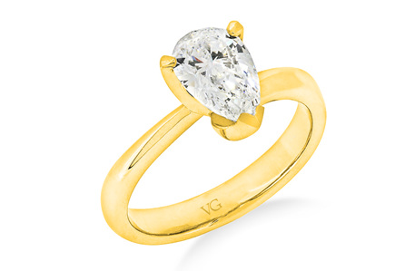 Pear Shaped Diamond Solitaire Ring