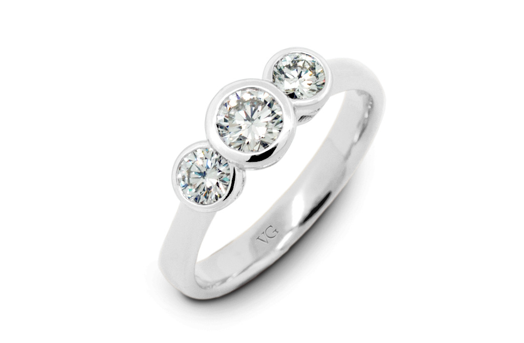 rings white gold set stellar bezel round minimal g diamond engagement fields platinum modern wedding products full ring