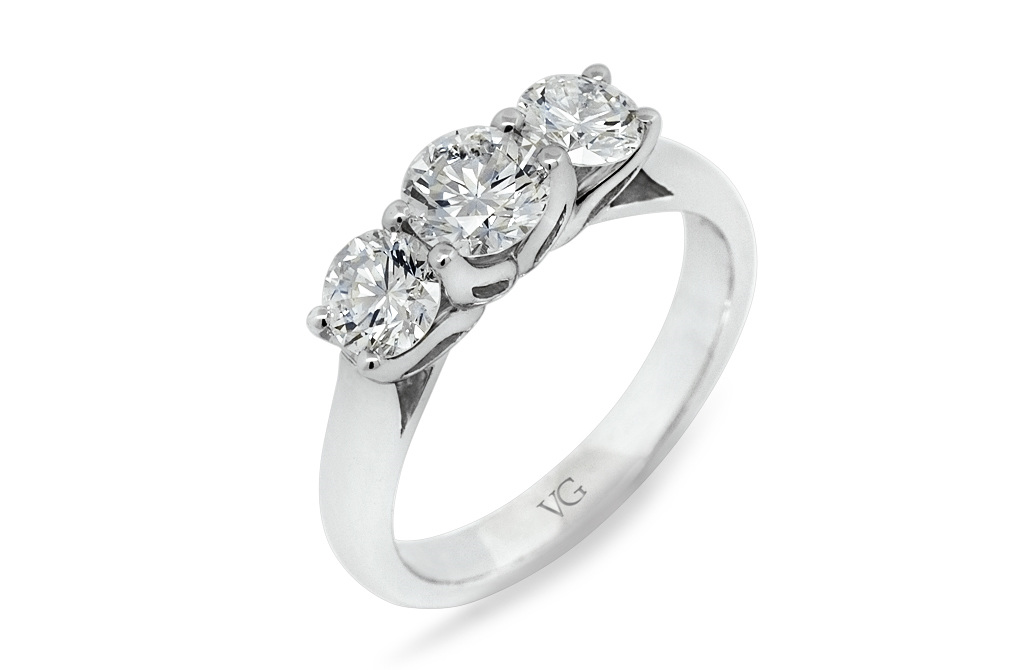 c52c324714e143 Three Stone Diamond Ring - The Village Goldsmith