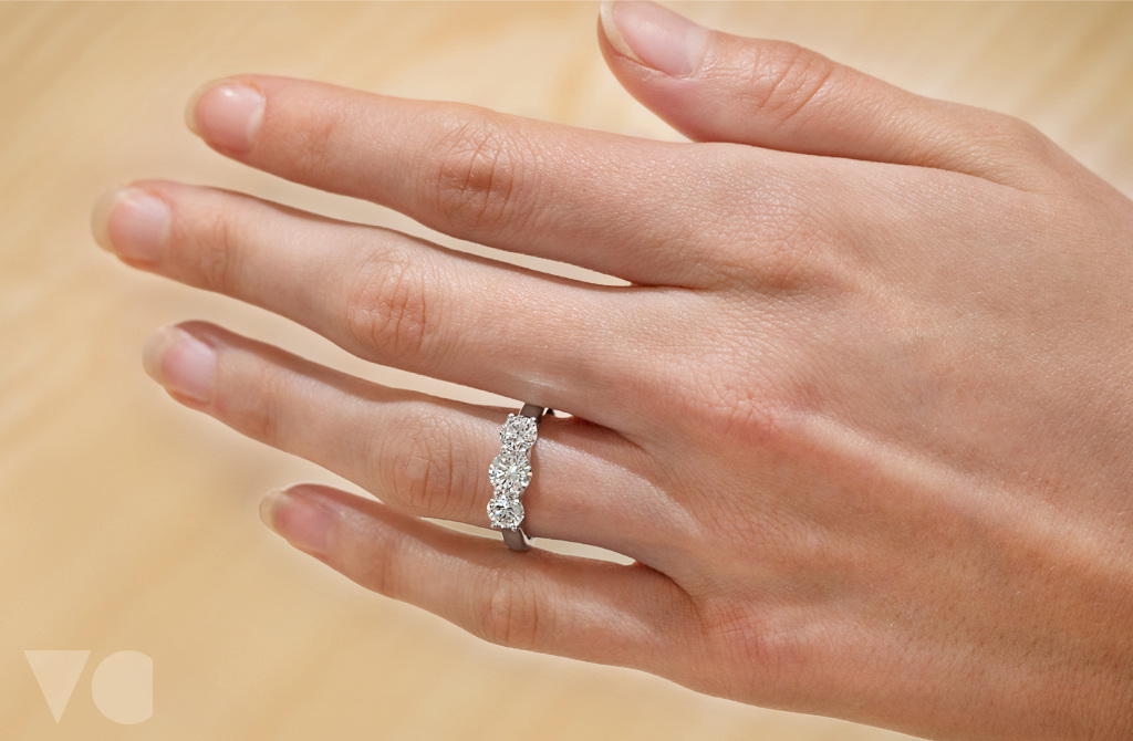 the top set in three jewellers browns product engagement platinum diamond ring jewellery stone