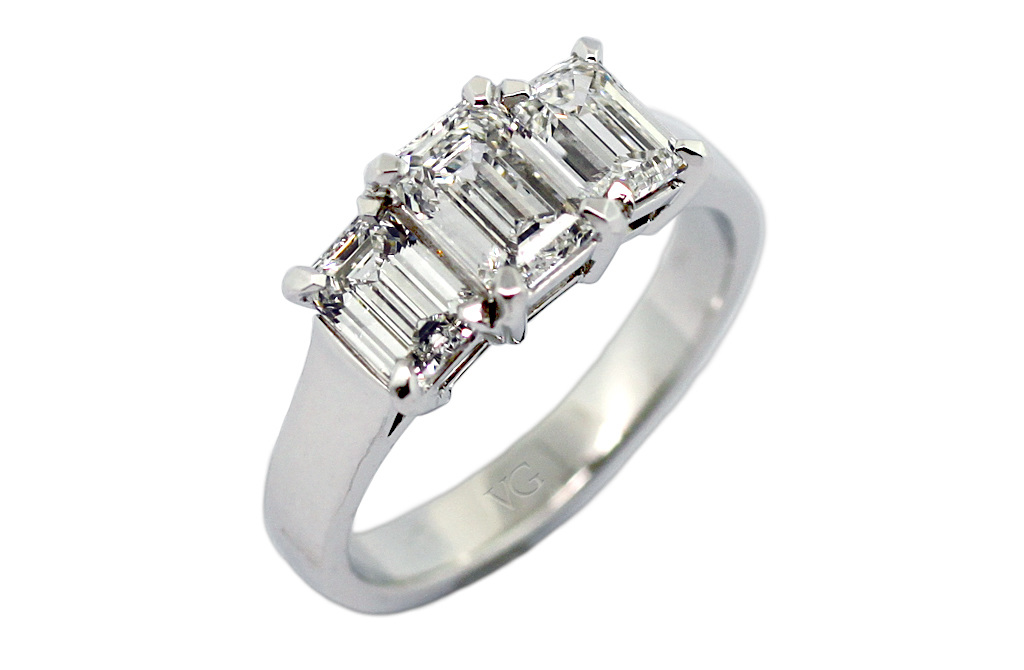 bridal eternitymark white cut set carat gold amoro rings ring emerald jewellery diamond all