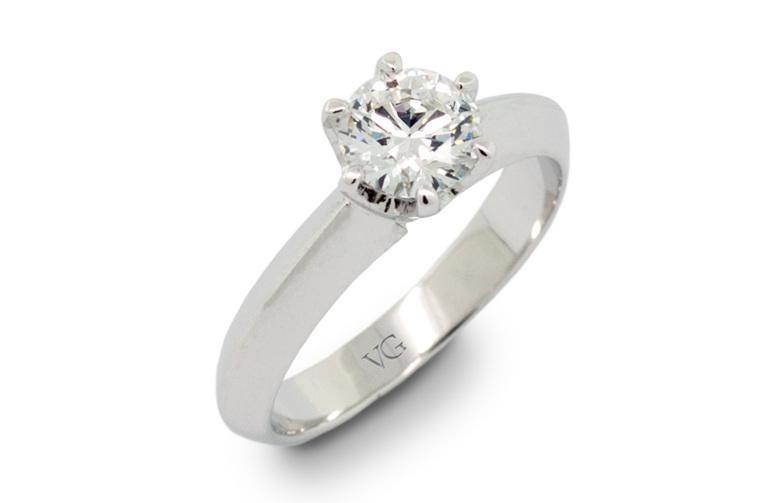 Diamond Engagement Ring, White Gold, Platinum, Yellow Gold, Rose Gold