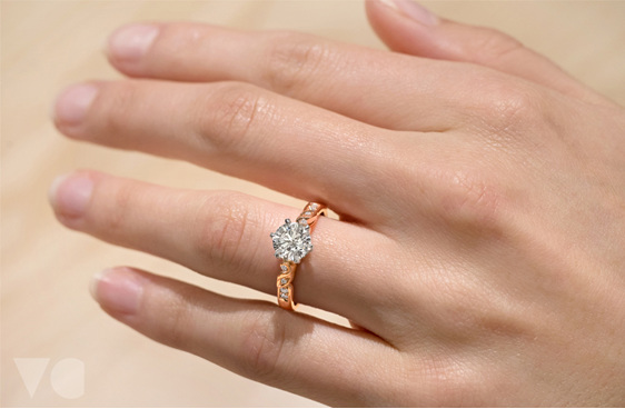 Diamond Engagement Ring, White Gold, Platinum, Yellow Gold, Rose Gold