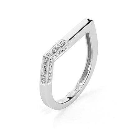 Diamond Geometric Stacking Ring