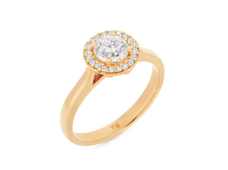 Diamond Halo Cluster Ring