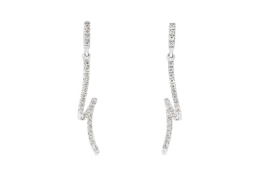 Diamond Loop Ribbon Earrings