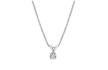 Four Claw Diamond Pendant
