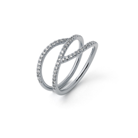 Diamond Ribbon Ring