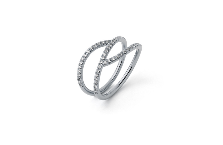 Diamond ring, statement ring, contemporary jewellery, the village goldsmith