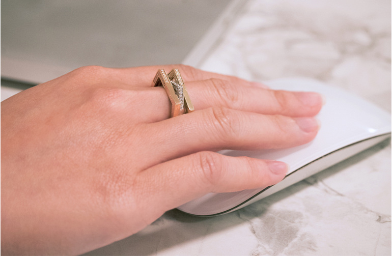 Diamond ring, statement ring, contemporary jewellery, the village goldsmith
