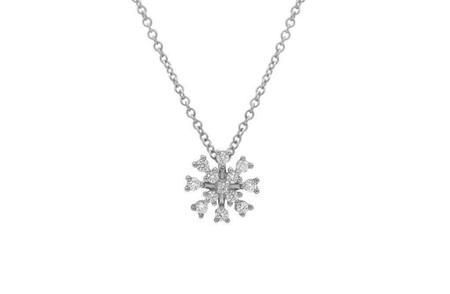 Diamond Snowflake Pendant