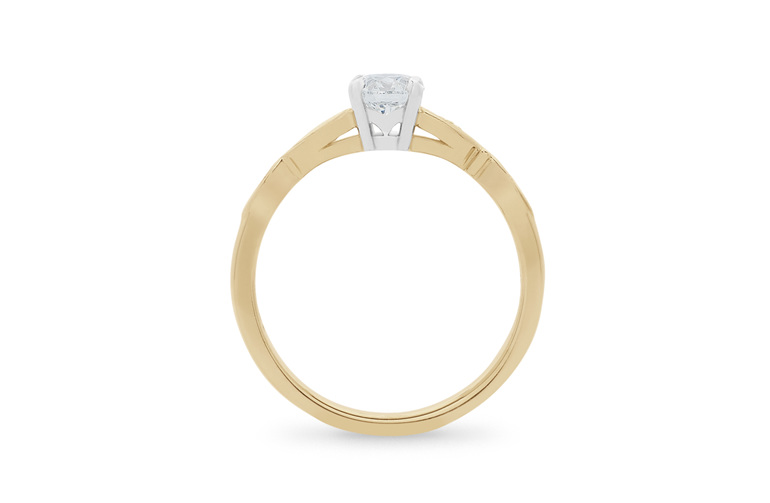 Diamond Solitaire, Diamond Engagement Ring, Engagement Ring 18ct yellow gold