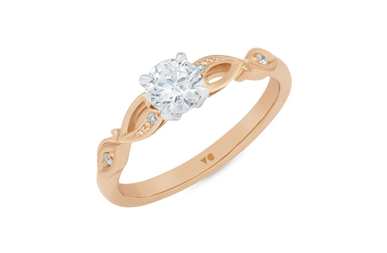 Diamond Solitaire, Diamond Engagement Ring, Engagement Ring 18ct rose gold