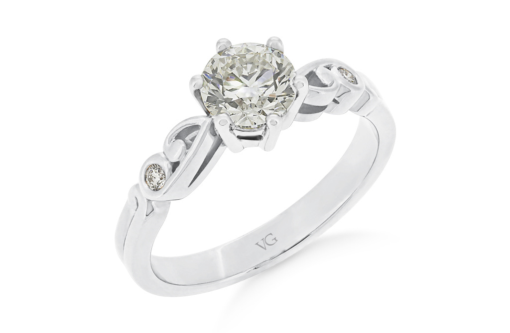 rings en ring diamonds gold side carat engagement in diamond solitaire white with