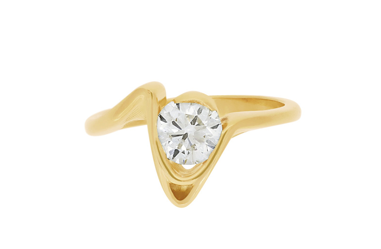 Diamond Solitaire Engagement Ring, Cove The Sandrift Collection
