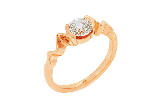 Diamond Solitaire Engagement Ring, Seismic The Sandrift Collection