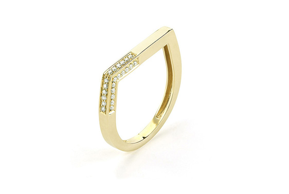 diamond stacking ring, contemporary jewellery, gold rings, gold stacking ring