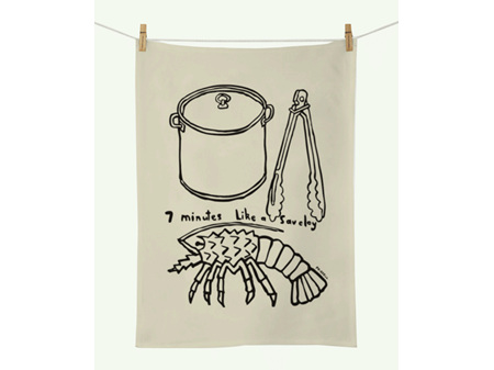 Dick Frizzell - 7 Minutes Tea Towel