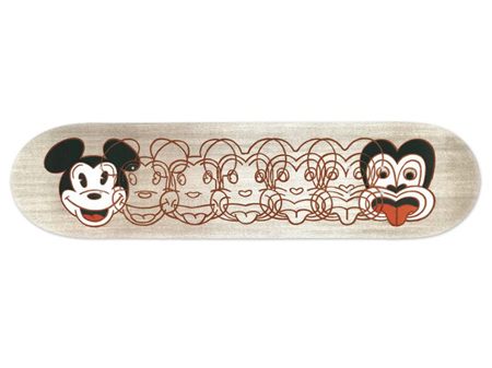 Dick Frizzell Mickey to Tiki Skateboard Deck Art