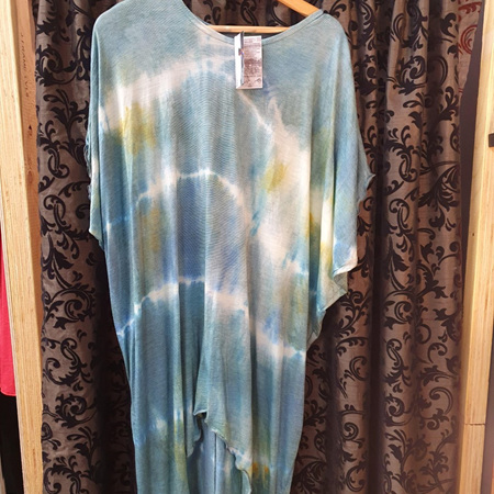 Diddy Dress - Hand Dyed - Greens