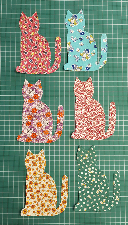 Die Cut 30's Cats Left Facing (6 Pack)