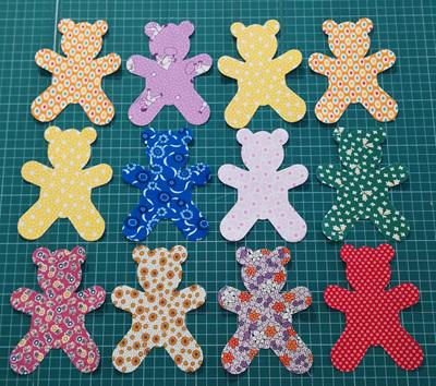 Die Cut 30's Teddy Bear (6 Pack)
