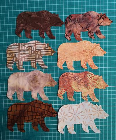 Die  Cut Batik Bears (6 Pack)