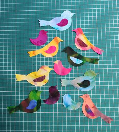 Die Cut Batik Birds (6 Pack)