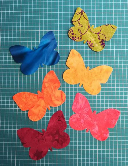 Die Cut Batik Butterflies (6 Pack)