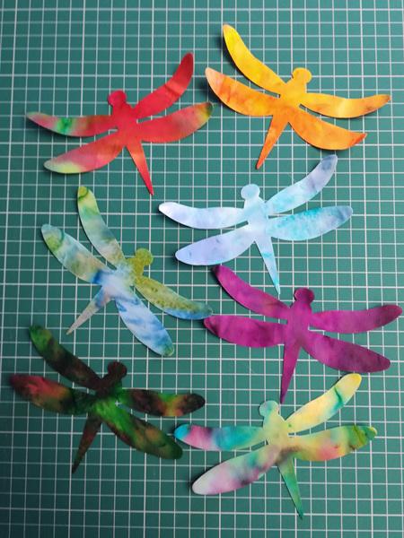 Die Cut Batik Dragonflies (6 Pack)