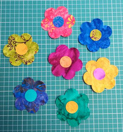 Die Cut Batik Flowers (6 Pack)