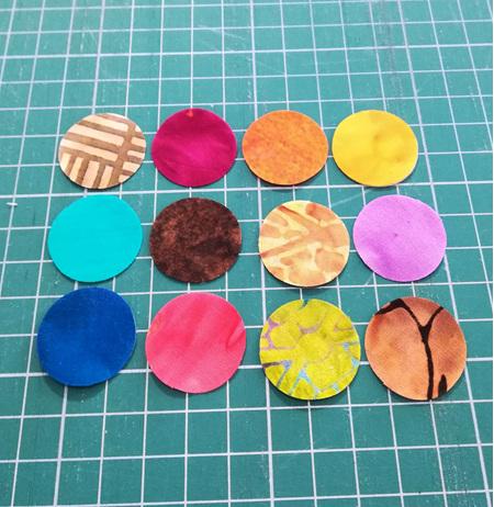 Die Cut Batik Small Circles (24 Pack)