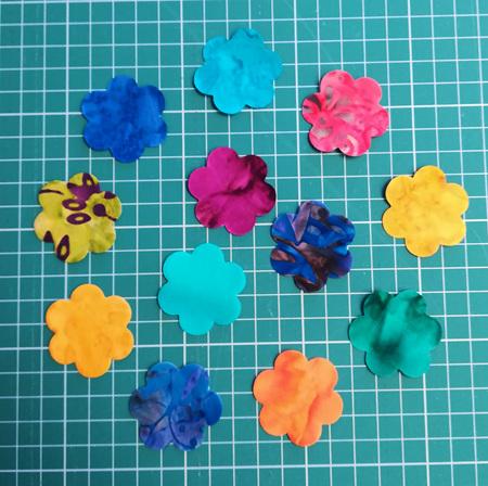 Die Cut Batik Small Flowers (12 Pack)