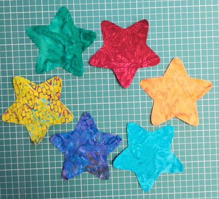 Die Cut Batik Stars (6 Pack)