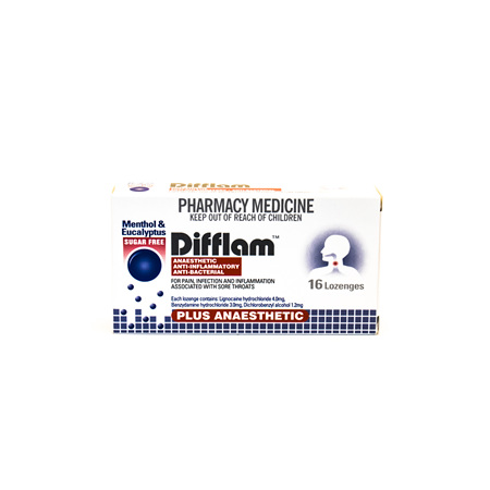 Difflam Anaesthetic, Anti-inflammatory & Antibacterial lozenges - Menthol & Euca