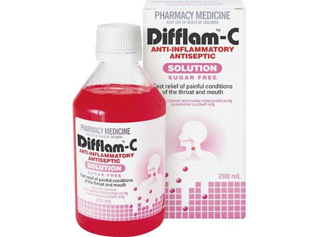 Difflam C Anti-Inflammatory Antiseptic Solution 200ml