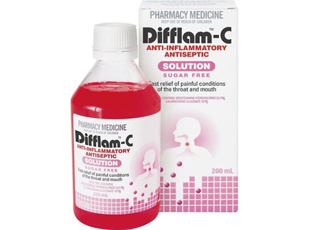 Difflam C Anti-Inflammatory Antiseptic Solution 200ml